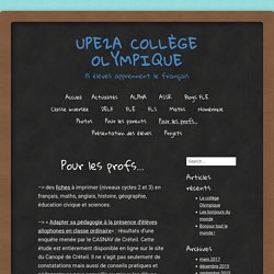 UPE2A Collège Olympique