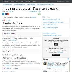 I love profunctors. They're so easy.