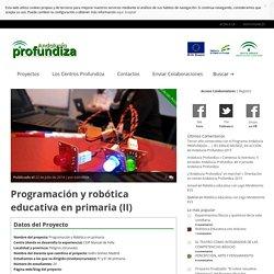 Andalucía Profundiza » Programación y robótica educativa en primaria (II)
