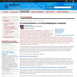 Profweb 2.0 : État de la question