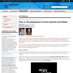 Créer un site pédagogique en toute simplicité avec Weebly