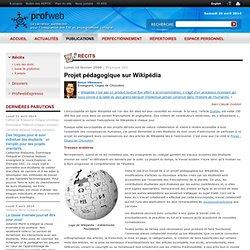 Projet pédagogique sur Wikipédia