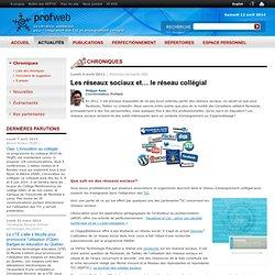 Les réseaux sociaux et… le réseau collégial