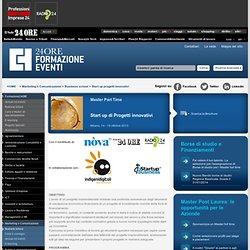Start up progetti innovativi Milano -Master Part Time - Formazione - Il Sole 24 ORE