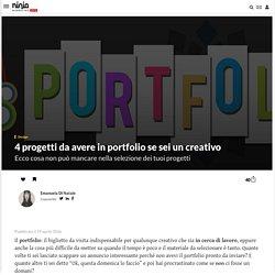 4 progetti da avere in portfolio se sei un creativo