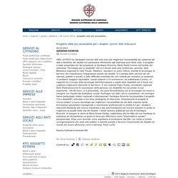 Progetto Web più accessibile per i disabili: pronti 400 mila euro -Regione Autonoma della Sardegna