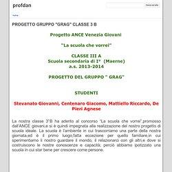 """PROGETTO GRUPPO """"GRAG"""" CLASSE 3 B - profdan"""