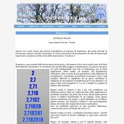Progetto Polymath - Appunti per una lezione - Il numero e