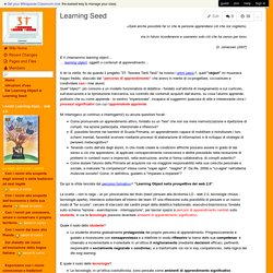 Progetto3T-Tessere-Tanti-Testi - Learning Seed