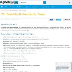 PGI : Progiciel de Gestion Intégrée - Dossier
