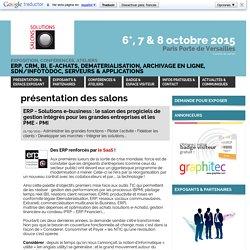 Article/Dépêche - ERP - Solutions e-business : le salon des progiciels de gestion intégrés pour les grandes entreprises et les PME - PMI