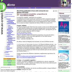Les progiciels comptables : propositions de sous-thèmes d'études