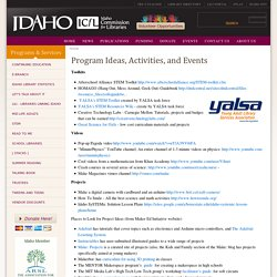 Program Ideas, Activities, and Events