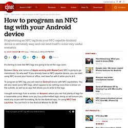 How to program an NFC tag with your Android device