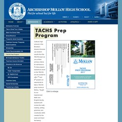 Know About TACHS Prep Program - Archbishop Molloy High School