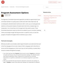 Program Assessment Options – Digication Help Desk
