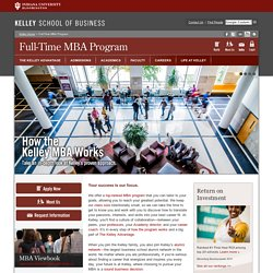 Full-Time MBA Program : Kelley School of Business: Indiana University