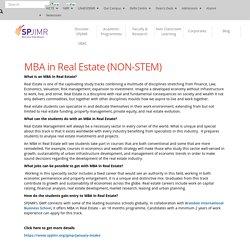 Best MBA Program in Real Estate