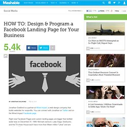 HOW TO: Design & Program a Facebook Landing Page for Your Business