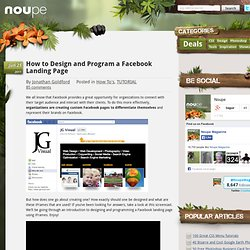 How to Design and Program a Facebook Landing Page - Noupe Design Blog
