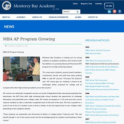 Monterey Bay Academy Advanced Placement Program Growing