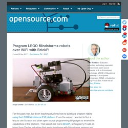 Program LEGO Mindstorms robots over WiFi with BrickPi
