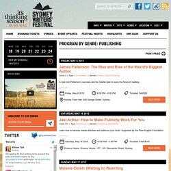 PROGRAM BY GENRE: Publishing - Sydney Writers' Festival