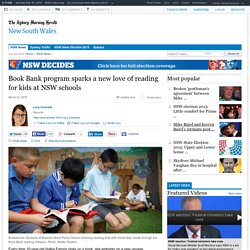 Book Bank program sparks a new love of reading for kids at NSW schools