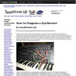 How to Program a Synthesizer by TweakHeadz Lab