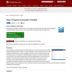 Wise Program Uninstaller Portable