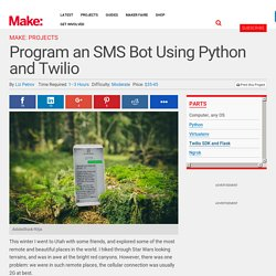 Program an SMS Bot Using Python and Twilio