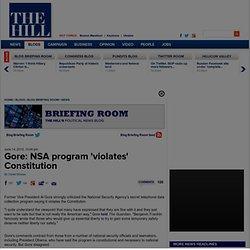 Gore: NSA program 'violates' Constitution