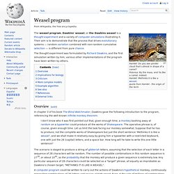 Weasel program