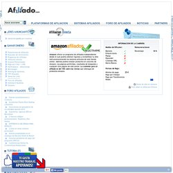 Amazon - Programa de afiliados directo y anunciante privado en Tiendas Online.