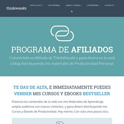 Programa de Afiliados - ThinkWasabi