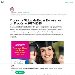 Programa Global de Becas Belleza por un Propósito 2017–2018