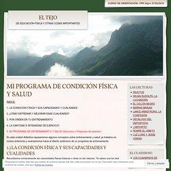 MI PROGRAMA DE CONDICIÓN FÍSICA Y SALUD