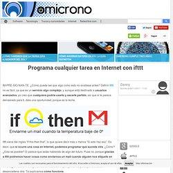 Programa cualquier tarea en Internet con ifttt