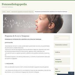 Programa de IL en A. Temprana