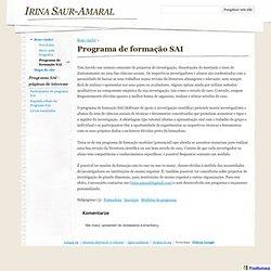 Programa de formação SAI - Irina Saur-Amaral - CometBird