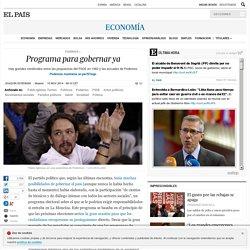 Podemos: Programa para gobernar ya