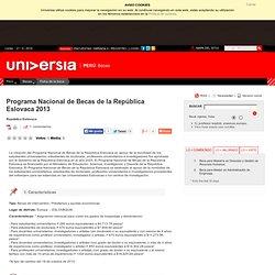 Programa Nacional de Becas de la República Eslovaca 2013