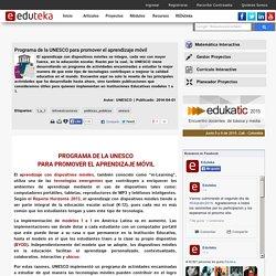 Programa de la UNESCO para promover el aprendizaje móvil