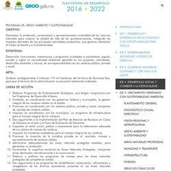 PROGRAMA 28. MEDIO AMBIENTE Y SUSTENTABILIDAD