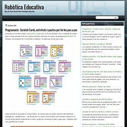 Programació - Scratch Cards, activitats i pautes per fer-les pas a pas