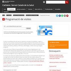 Programació de visites. CatSalut. Servei Català de la Salut