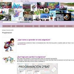 Blog alumnos 2ºBAT Ies Ifach: Programación