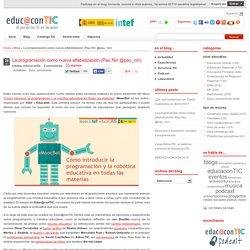 La programación como nueva alfabetización (Pau Nin @pau_nin)