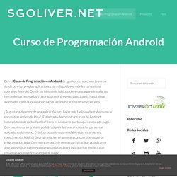 Desarrollo en Android | sgoliver.net blog
