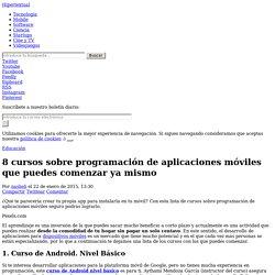 Cursos sobre programación de aplicaciones móviles